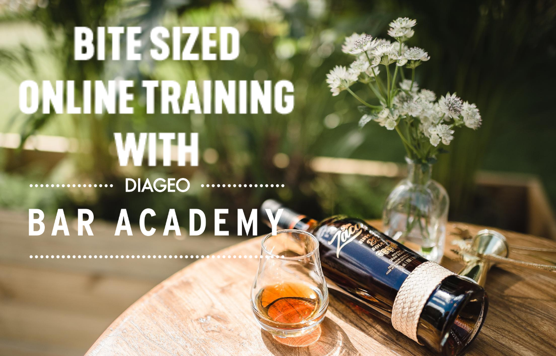 Bite size online training with Diageo Bar Academy