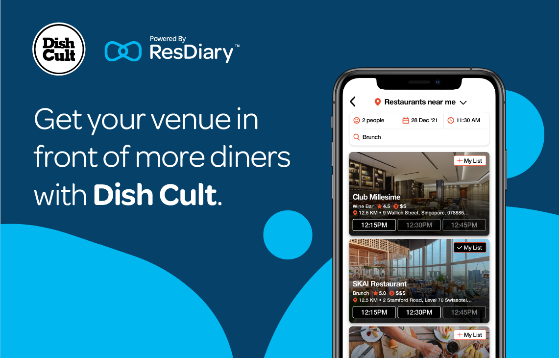 Get your venue seen by more diners with Dish Cult.