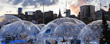 Pop Up Winter Village atop Fed Square