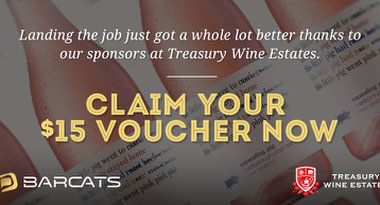 $15 Voucher With Treasury Wine Estates